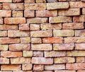 Stapled bricks give a harmonic pattern in red Royalty Free Stock Image