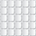 Stapled papers seamless pattern white attached with staples on light grey background Royalty Free Stock Photos