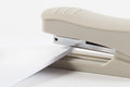 Stapler stationery products bond paper Royalty Free Stock Images