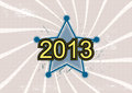 Star and 2013 new year Royalty Free Stock Photography