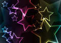 Star abstract background with lights and glows Royalty Free Stock Photo