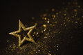 Star Abstract Decoration Lights, Gold Sparkles, Blurred Shine Royalty Free Stock Photo