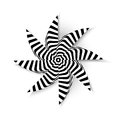 Star abstract vector illustration background psycho Royalty Free Stock Photography