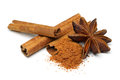 Star anise and cinnamon Royalty Free Stock Photo