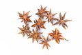 Star anise on a white background extreme closeup Stock Photography