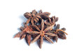 Star anise on white background isolated Royalty Free Stock Photo