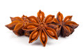 Star anise whole isolated on white background Royalty Free Stock Photo