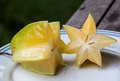 Star apple fruit on table Stock Photo