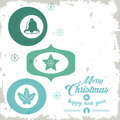 Star, bell and leaves icon. Merry Christmas design. Vector graph Royalty Free Stock Photo