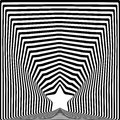 Star black stripes optical illusion visual art effect Stock Photo