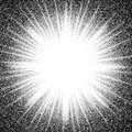 Star burst. Abstract vector black and white halftone background Royalty Free Stock Photo