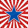 Star on a Burst Background Royalty Free Stock Photo