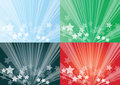 Star burst backgrounds Royalty Free Stock Photo