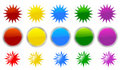 Star burst icons Royalty Free Stock Photo
