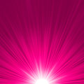 Star burst pink and white fire. EPS 8 Stock Images