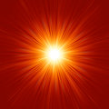 Star burst red and yellow fire. EPS 8 Stock Images