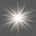 Star burst with sparkles.