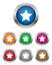 Star buttons Stock Photography