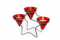 Star candle holder Stock Images
