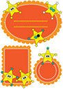 Star Character 123 Tags_eps Royalty Free Stock Photography