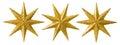 Star Christmas Decoration, Xmas Decorative Ornament, Isolated Royalty Free Stock Photo