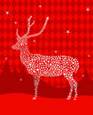 Star Christmas deer Royalty Free Stock Images