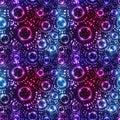 Star circle effect dot fly seamless pattern