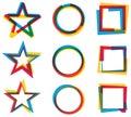 Star Circle Square Logo Set