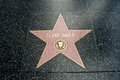 The star of clark gable on walk fame on hollywood blvd los angeles california Royalty Free Stock Image