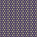 Star color style seamless pattern on lilac background. Christmas decoration element Royalty Free Stock Photo