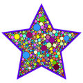 Star with colorful dots Royalty Free Stock Photo