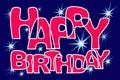 Star congratulations happy birthday.