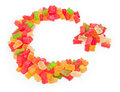 Star and crescent an islamic made of gummy candies Stock Photo