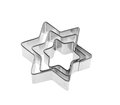 Star cutters for sugarcraft cake decorating pastry Royalty Free Stock Image