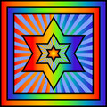 Star of David Royalty Free Stock Photography