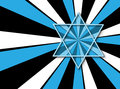 The star of david on colorful background Stock Photo