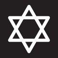 Star of David icon, vector illustration.