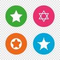 Star of David icons. Symbol of Israel.