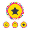Star of David icons. Symbol of Israel. Royalty Free Stock Photo