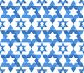 Star of David pattern Royalty Free Stock Photo