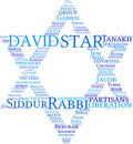 Star of David tag cloud Royalty Free Stock Images