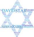 Star of David tag cloud Royalty Free Stock Photo