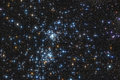 Star double cluster the famous stars in the constellation of perseus Stock Photo