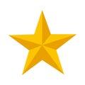Star emblem isolated icon