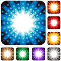Star explosion background Stock Images