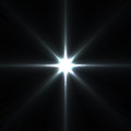 Star flares supernova isolated on black