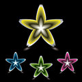 Star flower icon black Royalty Free Stock Photo