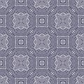 Star Flower matrix seamless pattern background in blue and white Royalty Free Stock Photo