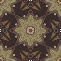 Star Flower Russia Style Seamless Pattern_eps Stock Photos