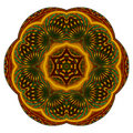 Star fruit mandala Royalty Free Stock Image